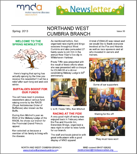 mnd front page newsletter