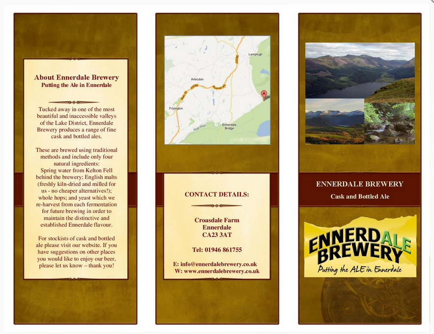 Ennerdale Brewery Tasting Notes Page 1 Cover