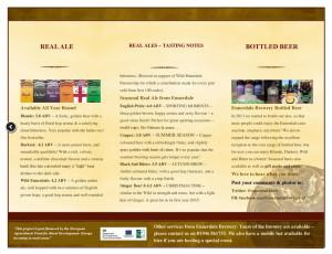 Ennerdale Brewery Brochure Tasting Notes Page 2