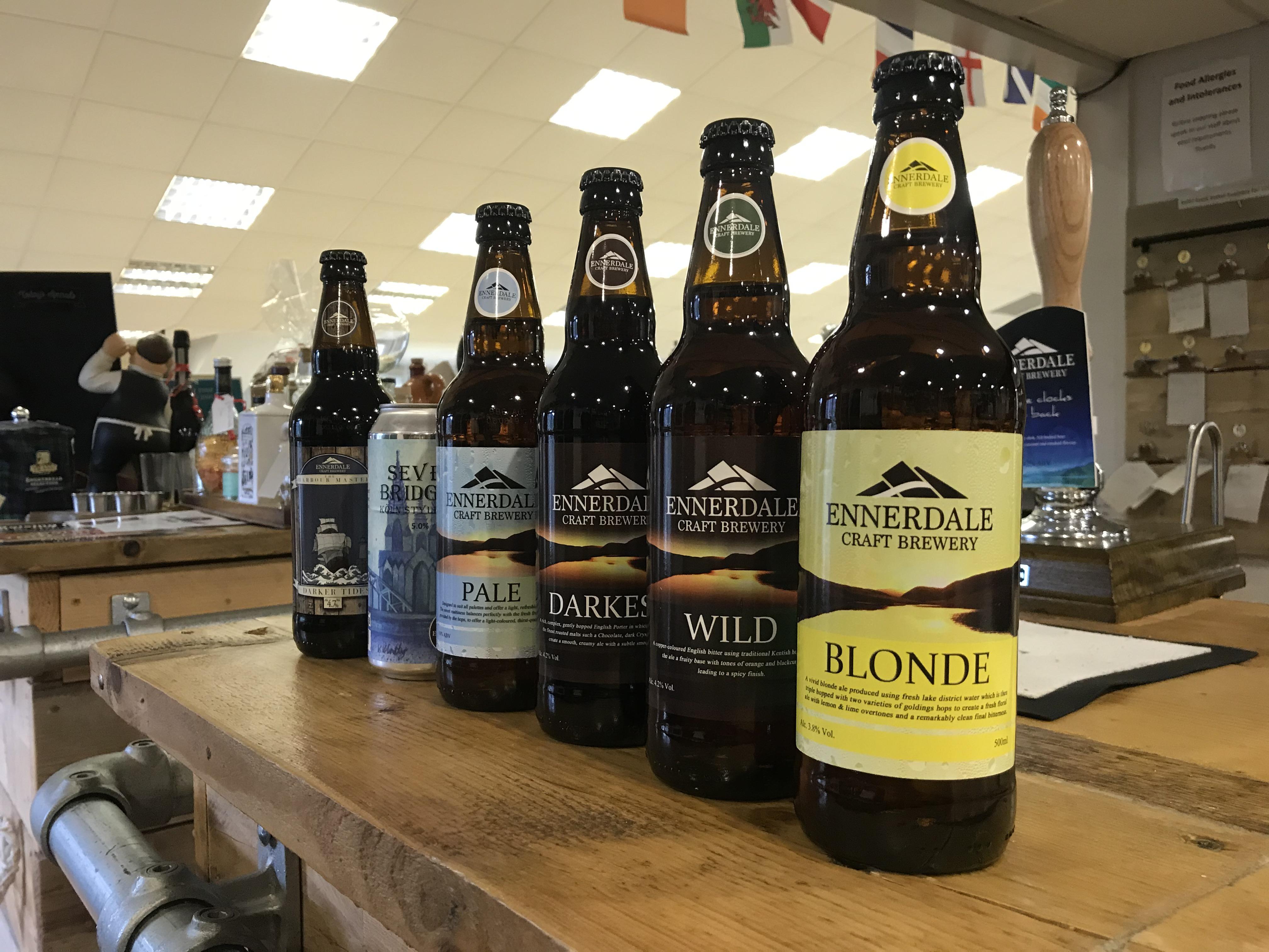 Bottles of beer from Ennerdale Craft Brewery