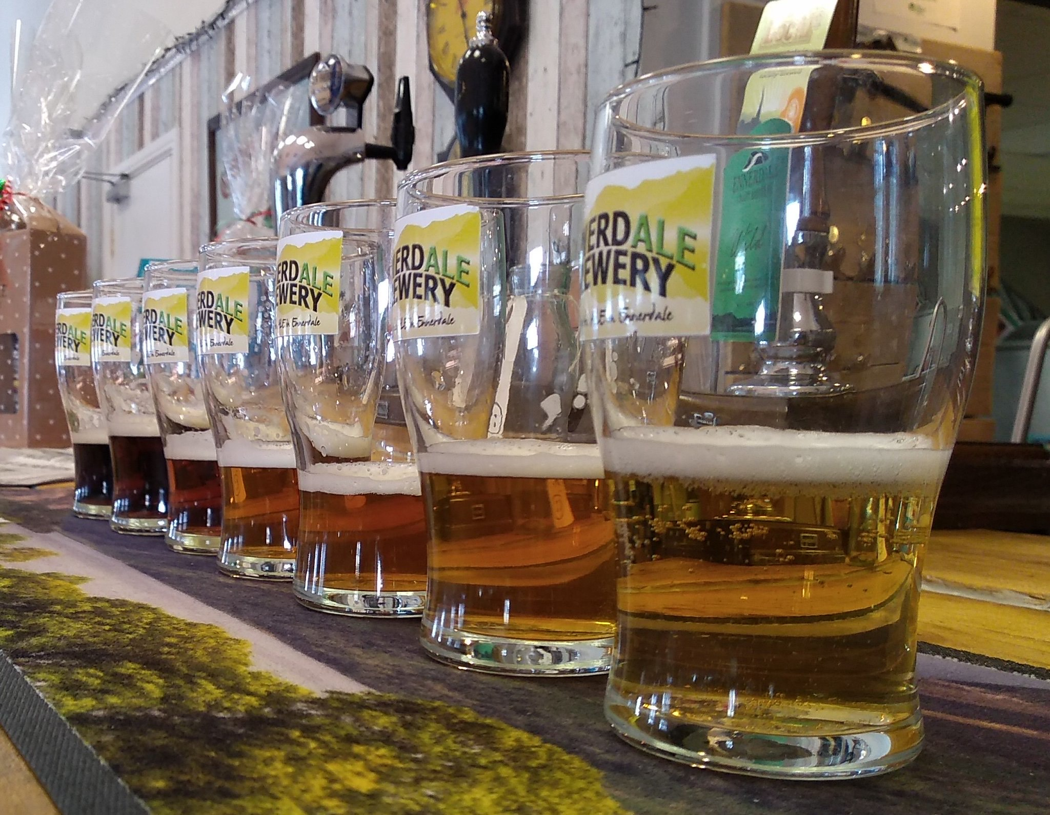 Beer at the taps