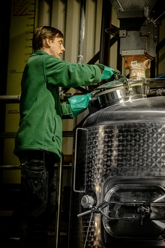 Man working at Ennerdale Brewery
