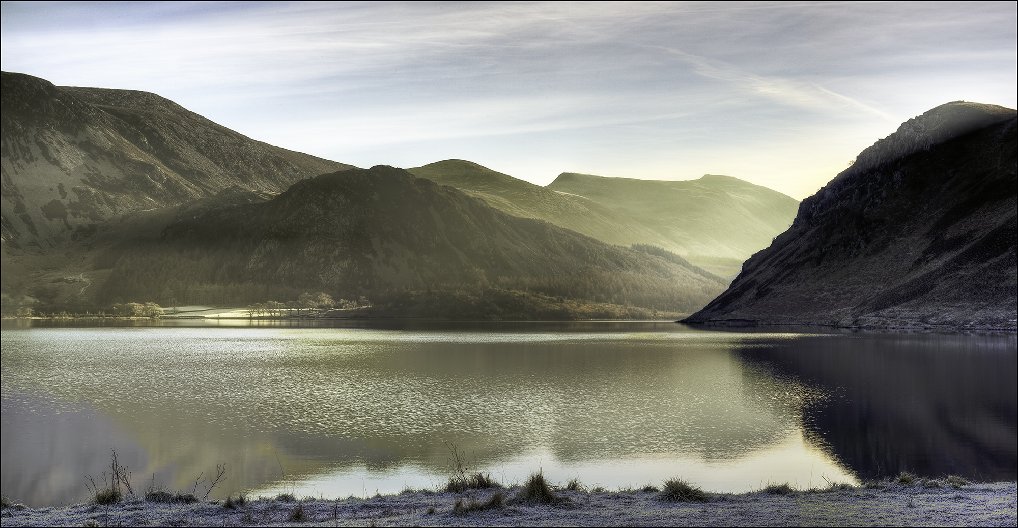 Panorama of Ennerdale Water in the Lake District